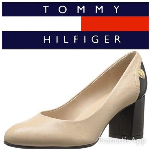 a4d5ddab Tommy Hilfiger block heel pumps TW Genesis. M_5b9f2043a5d7c69be3f97f5e